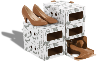 StorePAK shoe boxes